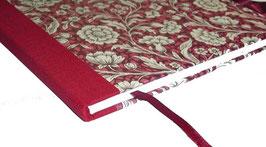 Gästebuch / Schreibbuch / Tagebuch Italienisches Papier große Blumen rot