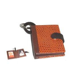 Fotoanhänger/Anhänger /Schlüsselanhänger / Taschenanhänger für Fotos / Passfotos  Eidechspapier orange braun