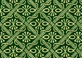 Leipziger Vorsatzpapier  Ornament grün