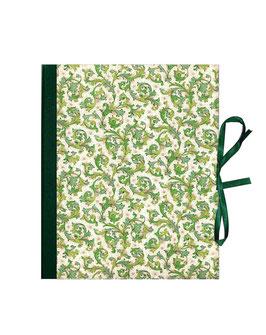 Ringordner 2cm breit, Florentiner Papier Ornamente grün gold