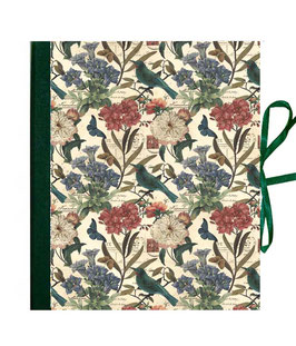 Ordner / Ringordner  DinA4  ,Florentiner Papier Colibri,dunkelgrün, 3 cm breit
