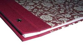 Schraubalbum Gästebuch, Din A4 quer,große Blumen rot, Querformat
