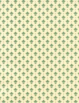 Florentiner / Italienisches Papier  50 x 70 cm Blumenkronen grün gold