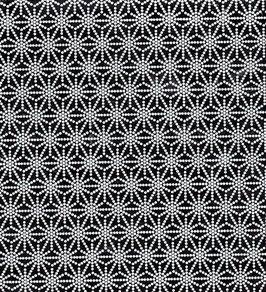 Baumwoll Papier handgeschöpft, aus Nordindien ,Sterne weiß auf schwarz