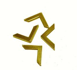 Buchecken schlicht 22 x 22mm gold farben  4  Buchecken