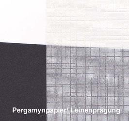Pergamynpapier Leinenprägung , Packet 10 Blatt