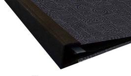 Ringbuchordner für DinA4 , 3 ,5 cm breit, Baumwollpapier Azteka schwarz