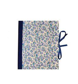 Ringbuchordner  DinA4  Florentiner Papier blau gold, 3 cm breit