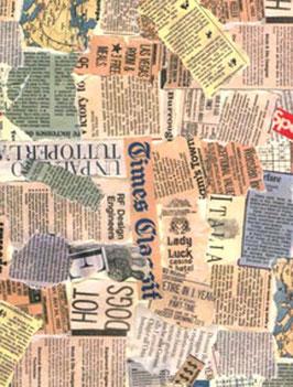 Italienisches Papier / Geschenkpapier Tassotti Zeitungsausschnitte bunt