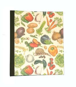 Ringbuchordner für DinA4 kleine Gemüse olive grün, 3 ,5 cm breit