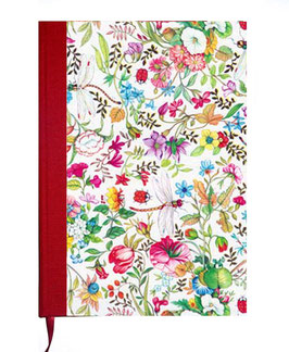 Kalender / Buchkalender / Tageskalender 2019 DinA5, Florentiner Papier Libelula mit Golddruck