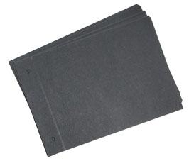 20 Zusatzblätter 160g , DinA4, Querformat,schwarz, zweifach gelocht, zweifach gerillt