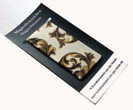 Magnetlesezeichen Ornamente schwarz gold