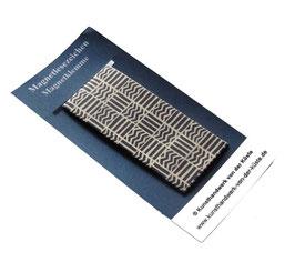 Magnetlesezeichen Musterquadrate blau