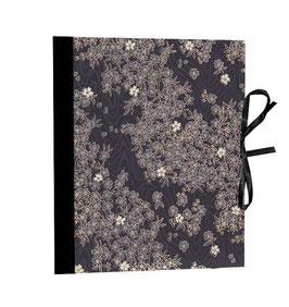 Ringordner Din A5,  2 cm breit, Baumwollpapier  Kyoto schwarz gold zweifach Mechanik