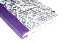 Tagebuch mit Schloß, kleine Balken blau grün lila