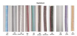 Kapitalband 1 Meter in verschiedenen Farben erhältlich