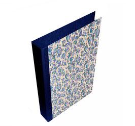 Ringordner DinA4 mit Bügelmechanik 6 cm breit, Ringordner ,Florentiner Papier Ornamente blau mit Golddruck