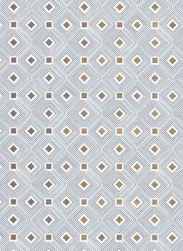 Florentiner / Italienisches Papier  50 x 70 cm Quadrate dunkelblau mit Golddruck, Carre'd'Or