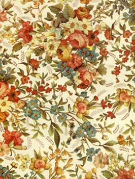 Florentiner / Italienisches Papier  50 x 70 cm  elegante Blumen hell