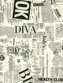 Italienisches Papier / Geschenkpapier Rossi Newspaper