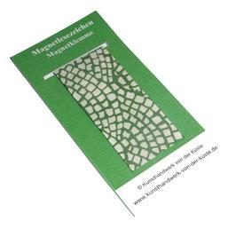 Magnetlesezeichen Hölzer grün