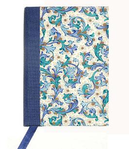 Kalender / Buchkalender / Taschenkalender 2019 DinA7, Florentiner Papier Ornamente blau gold