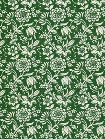 Italienisches Papier/ Geschenkpapier Floris grün