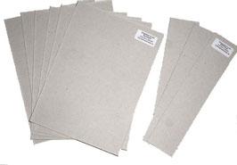 Graupappe / Buchbinderpappe  für drei  DinA5 Bücher