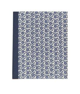 Ringordner DinA4 mit Bügelmechanik 5cm breit,Leibziger VorsatzpapierBlumenfeld  blau