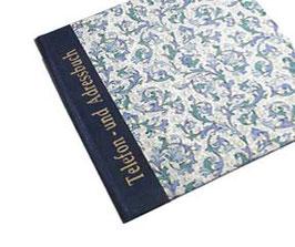 Adressbuch Telefonbuch, Florentiner Papier Ornamente blau gold