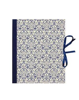 Ringbuchordner für DinA4 Ornamente blau, 3 ,5 cm breit