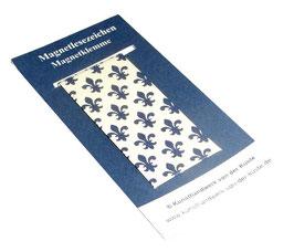 Magnetlesezeichen Lilien blau