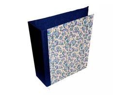 Ringordner DinA4 mit Bügelmechanik 8,5 cm breit, Florentiner Papier blau gold