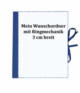 Wunschordner Ringordner 3cm breit,mit Wunschpapier