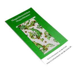 Magnetlesezeichen Ornamente grün gold