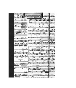 Klemmbrett Mappe DinA4 , Carta Varese Papier Noten schwarz