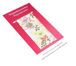 Magnetlesezeichen Blumenfeld Libellen