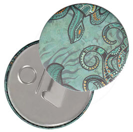 Taschenspiegel,Handspiegel, oder Flaschenöffner mit Magnet  ,Button, 59 mm Durchmesser,Seeworld, Unterwasser Welt