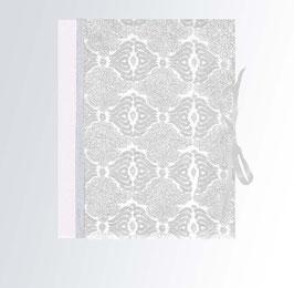Ringordner DinA4 mit Bügelmechanik 5cm breit, Ringordner Nepal Nepal Papier Blumenbrockat silber