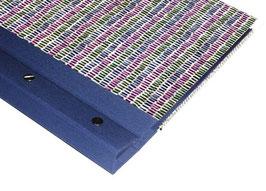 Schraubalbum / Gästebuch ,ohne Inhalt, DinA4 Hochformat, geschlossener Buchrücken, kleine Blaken blau grün lila, blau