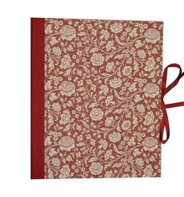 Ringbuchordner für DinA4 , 3 ,5 cm breit, große Blumen bordeaux rot