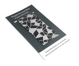 Magnetlesezeichen geometrisches Muster schwarz weiß