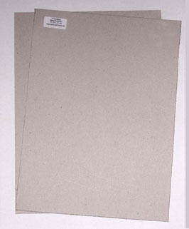 Graupappe / Buchbinderpappe für eine DinA4 Mappe / Dokumentenmappe 23 x 31 cm