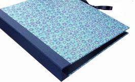Ringordner 4 cm breit,mit Baumwollpapier ,Poppy Blue