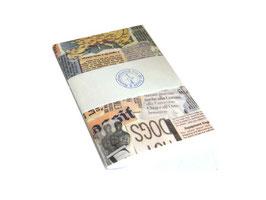Notizheft / Skizzenheft italienisches Papier Zeitungsausschnitte