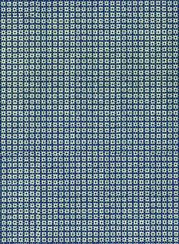 Leipziger Vorsatzpapier  Zackensterne blau