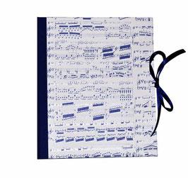 Ringbuchordner für DinA4 , 3 ,5 cm breit, Carta Varese Papier Noten blau