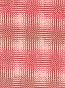 Leipziger Vorsatzpapier  Zackensterne rot