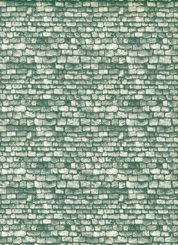 Italienisches Papier Steine grün